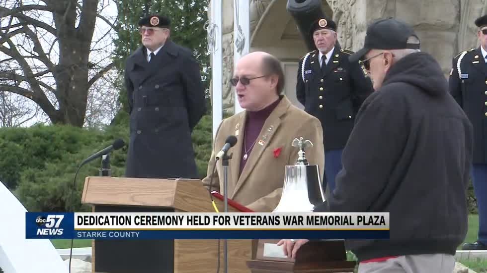 New veterans war memorial plaza opens in Starke County