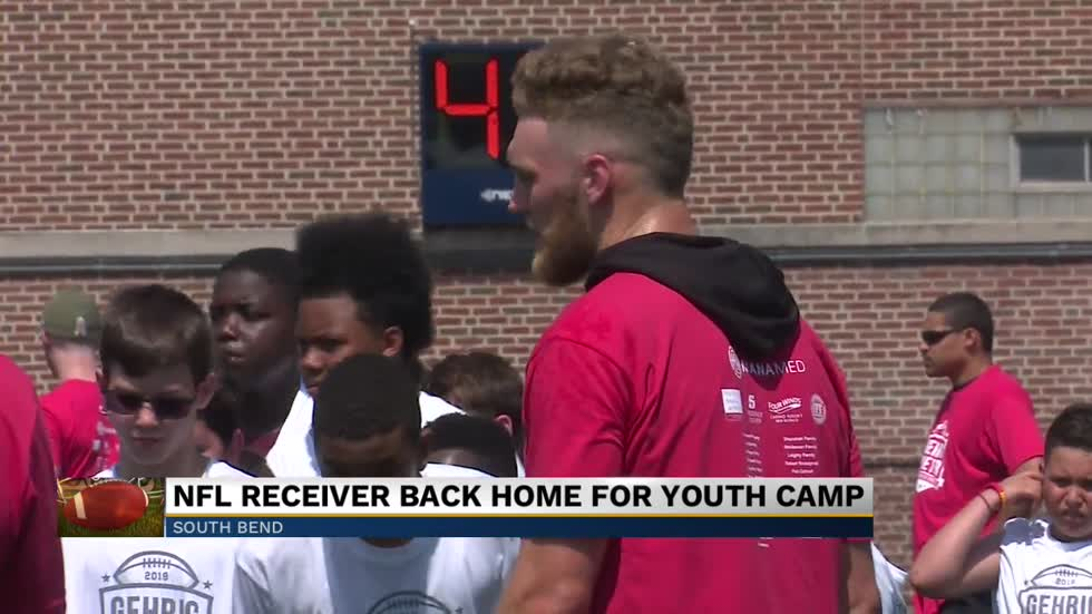 NFL receiver Gehrig Dieter returns home for youth camp in South Bend