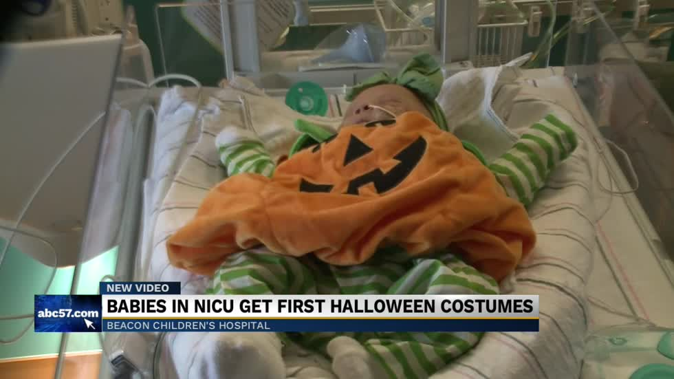 NICU babies dress up for their first Halloween