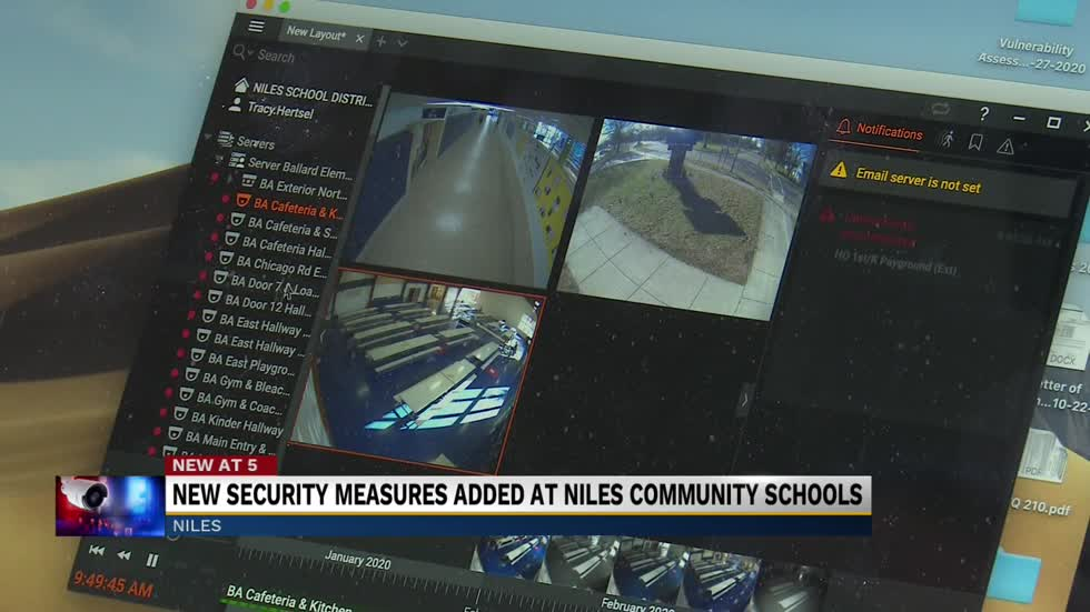 Niles school district enhances security system