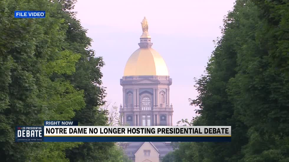 Notre Dame withdraws as host for first 2020 presidential debate