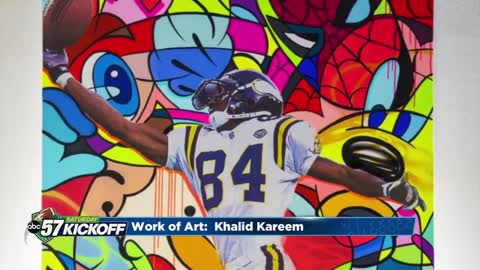 Notre Dame defensive end Khalid Kareem shares his love of art