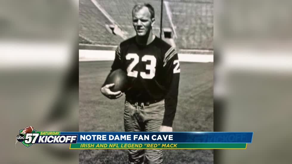 "Inside Bill ""Red"" Mack's Fan Cave: Former Irish running-back..."