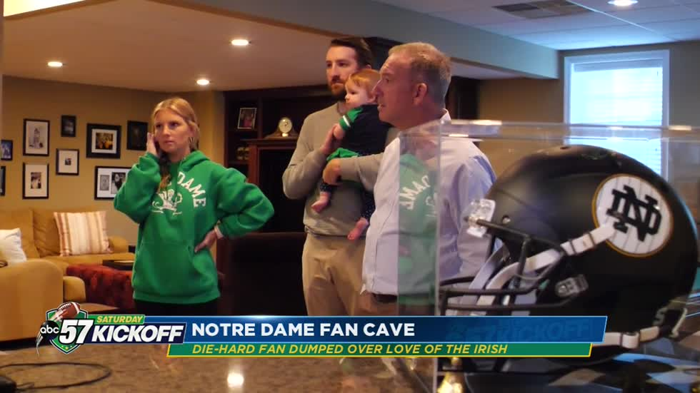 Notre Dame Fan Cave: Inabnit father-daughter duo are more than super fans