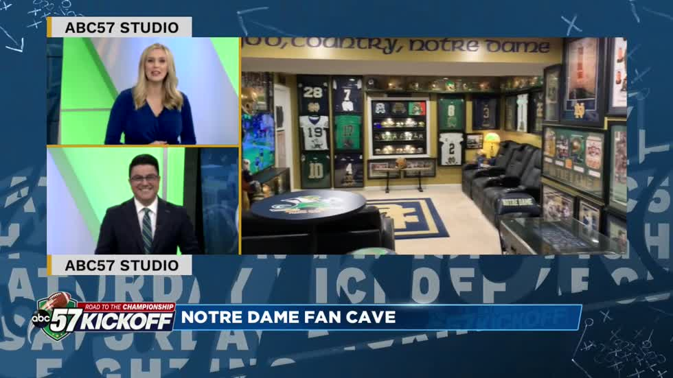 Notre Dame Fan Cave: Mike Simmerman shows off an epic set up in West Virginia