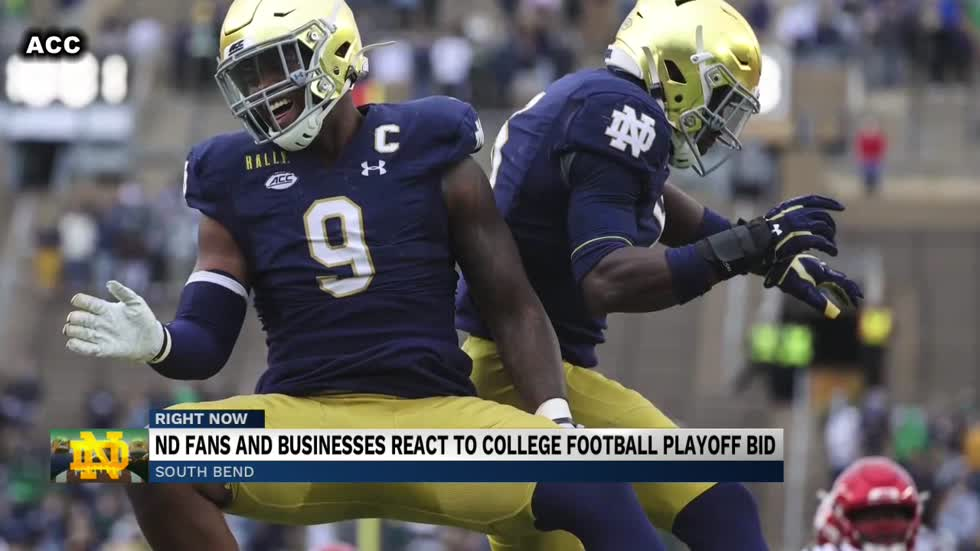Notre Dame Football fans and local businesses react to College Football Playoff Bid