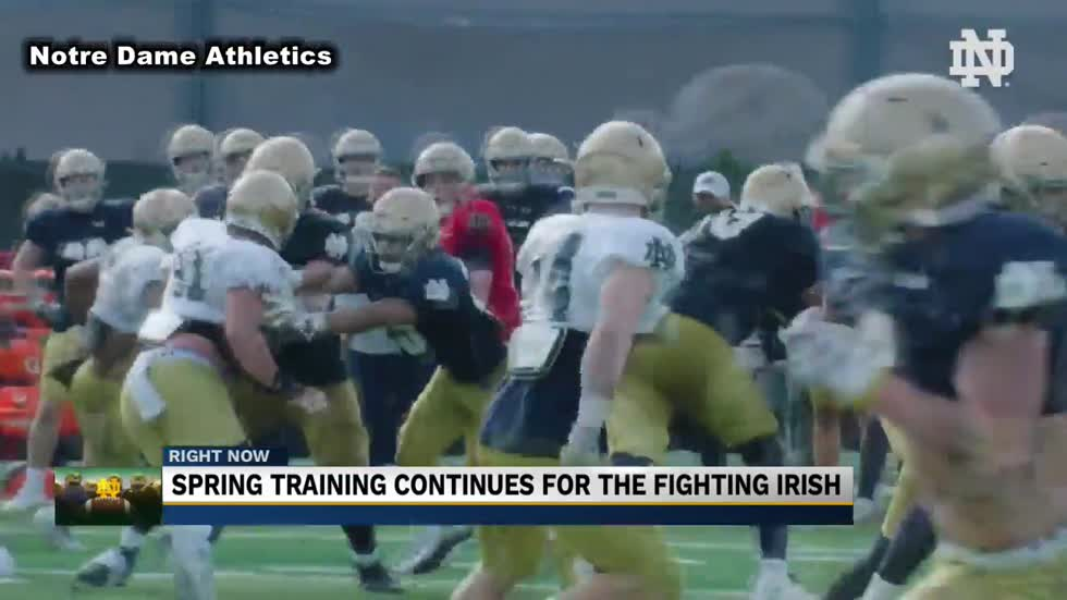 Notre Dame football officially halfway through Spring workouts