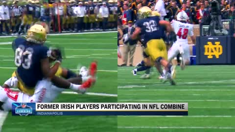 Notre Dame football players head to Lucas Oil Stadium for NFL Combine