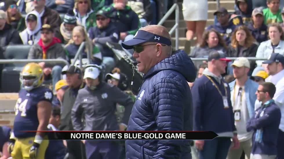Notre Dame football showcases spring work at Blue-Gold Game