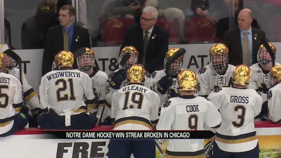 Notre Dame hockey's win streak broken by Wisconsin in Chicago