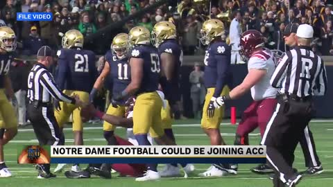 Notre Dame may join the ACC for the 2020 football season