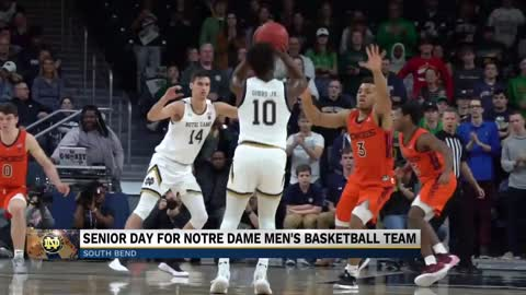 Notre Dame Men's Basketball achieves victory on Senior Night