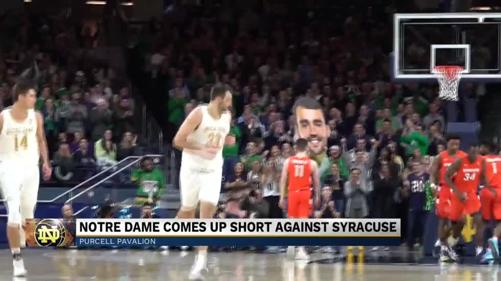Notre Dame men's basketball comes up short against Syracuse