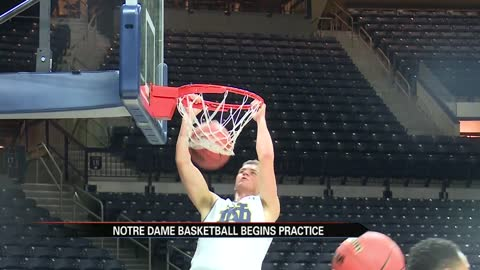 Notre Dame men's hoops returns for first official practice