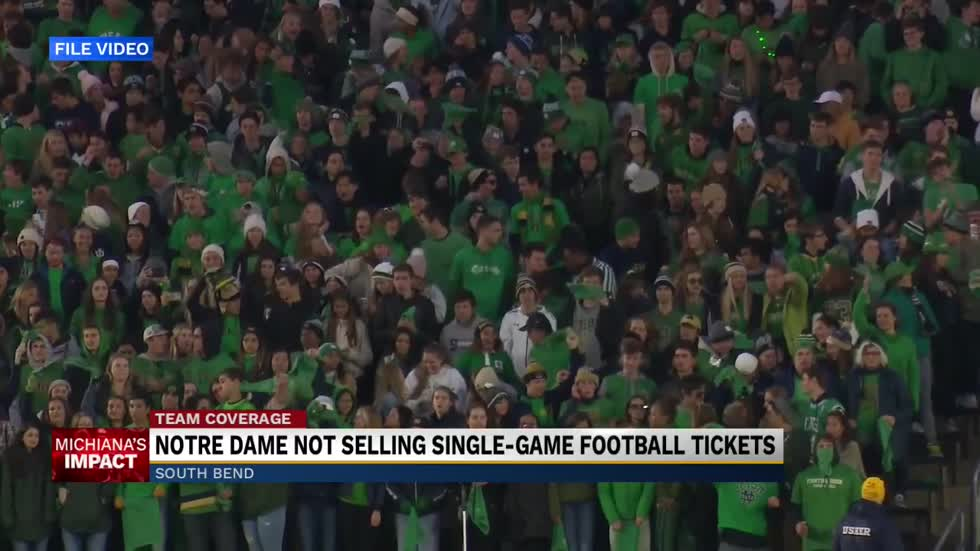 Notre Dame not selling single-game football tickets