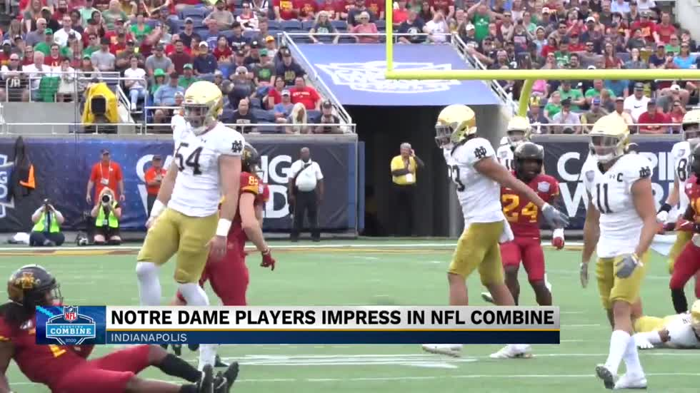 Notre Dame players impress at NFL Combine