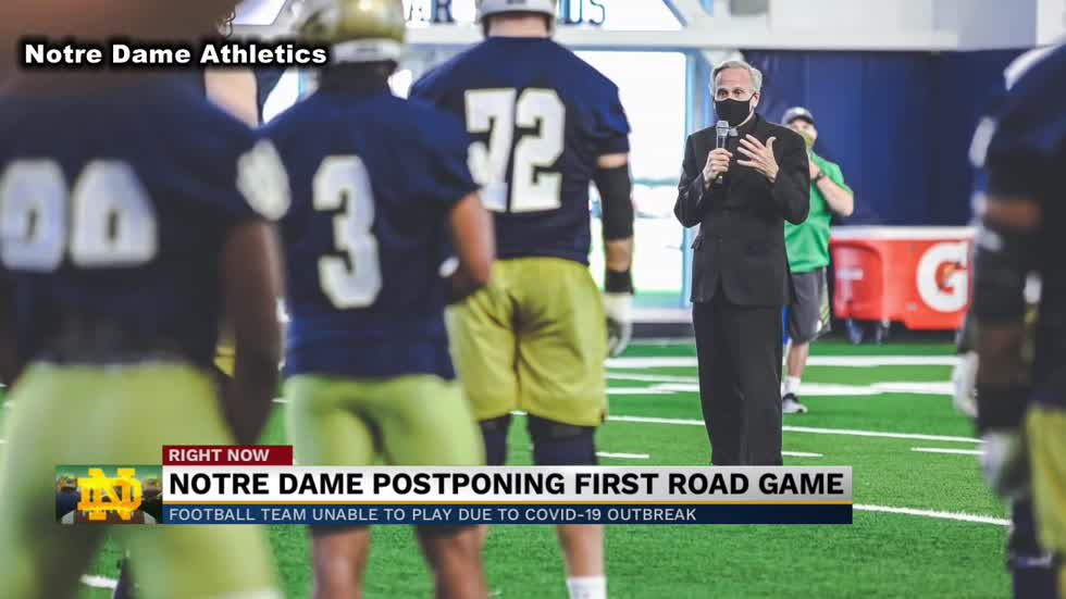 Notre Dame postpones Saturday's game against Wake Forest