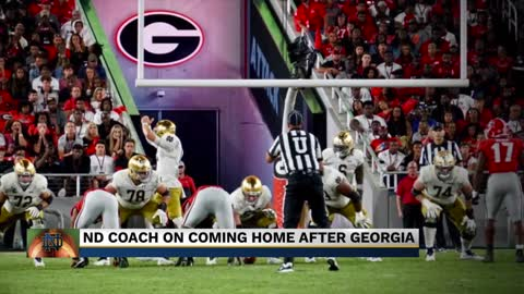 Notre Dame prepares to take on Virginia after tough loss in Georgia...