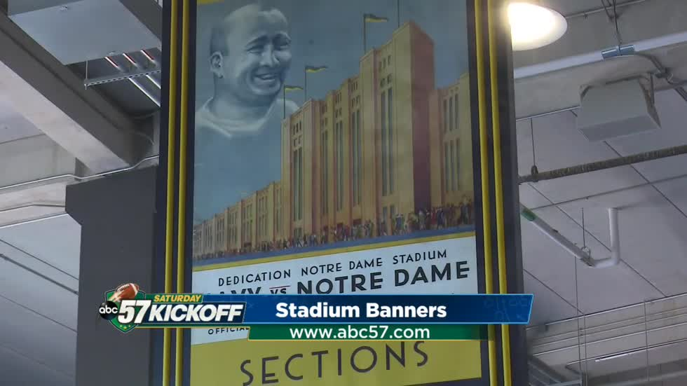 New Notre Dame Stadium banners honor team's history