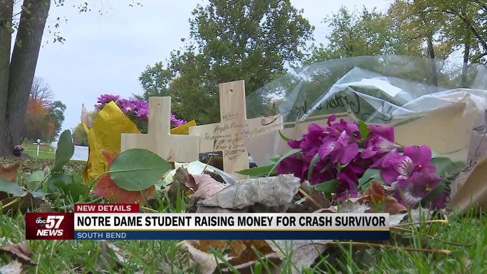 Notre Dame student raising money for crash survivor