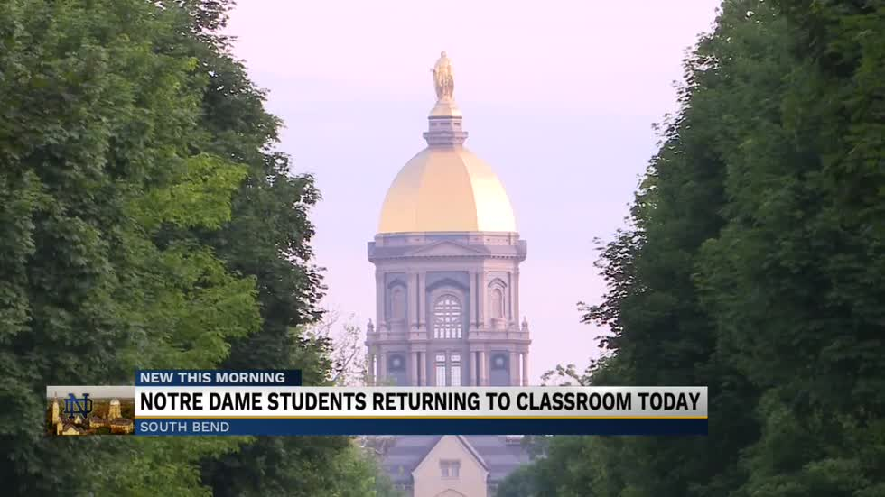 Notre Dame students return to in-person classes