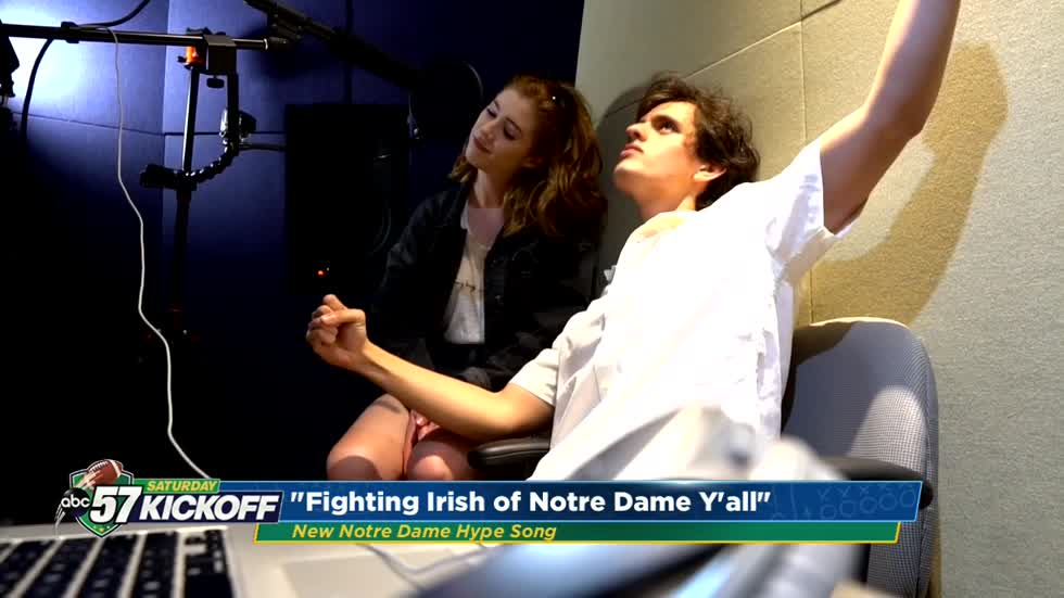 Notre Dame students write new hype song for football fans