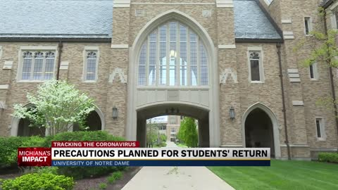 Notre Dame takes extra precautions before reopening this fall...