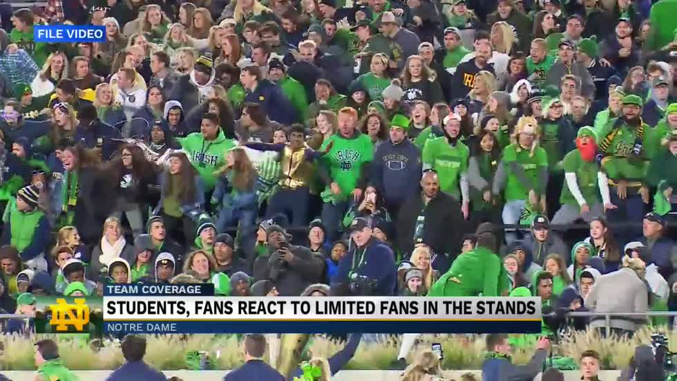 Notre Dame to limit football game attendance for 2020 season