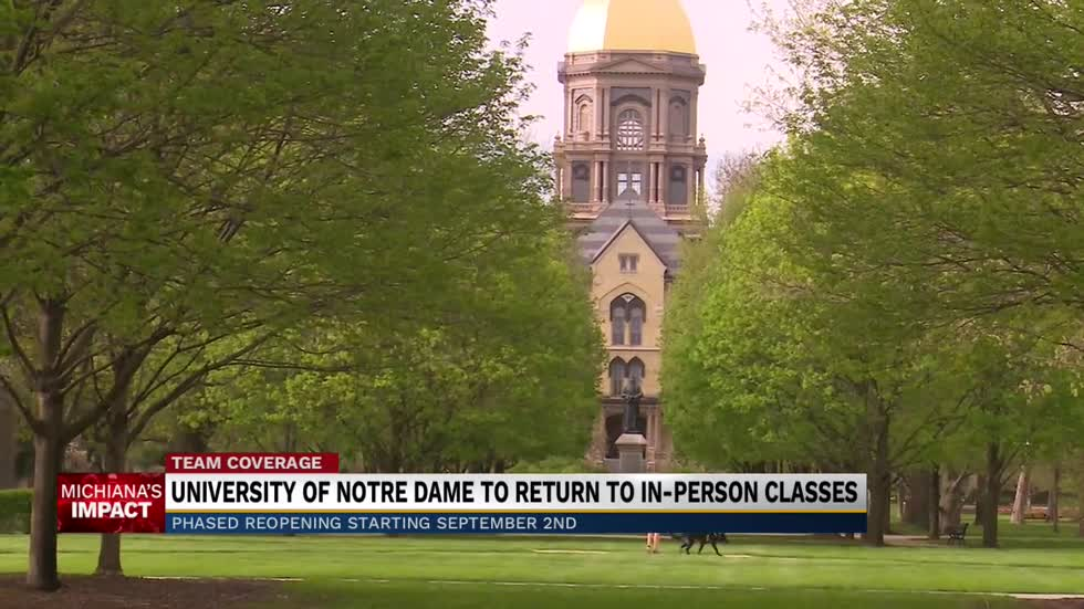 Notre Dame to return to In-Person Classes starting September 2nd