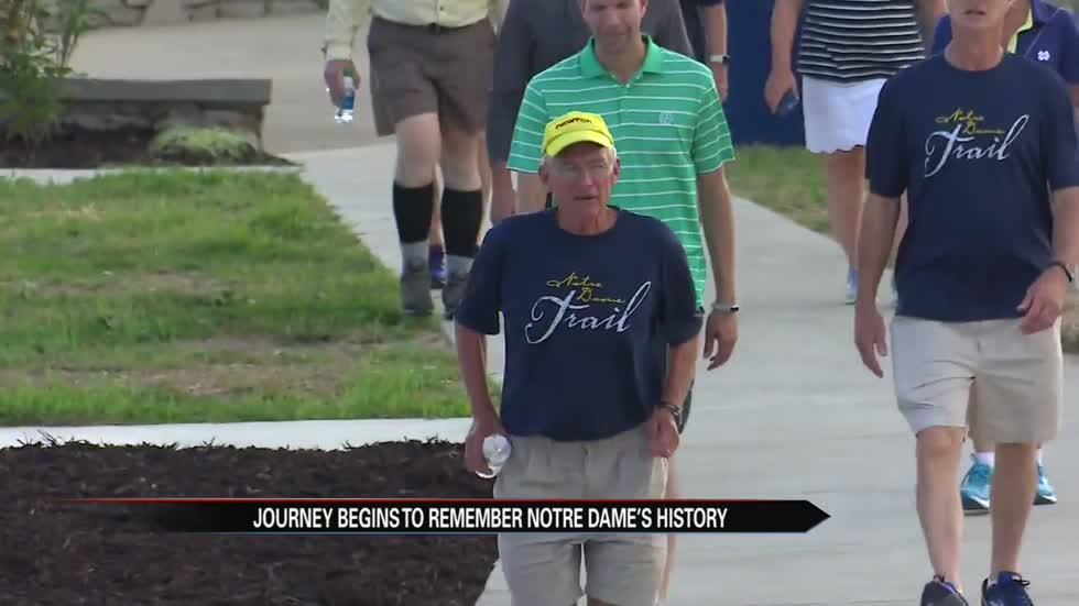 Notre Dame Trail: 300 mile journey back to campus underway