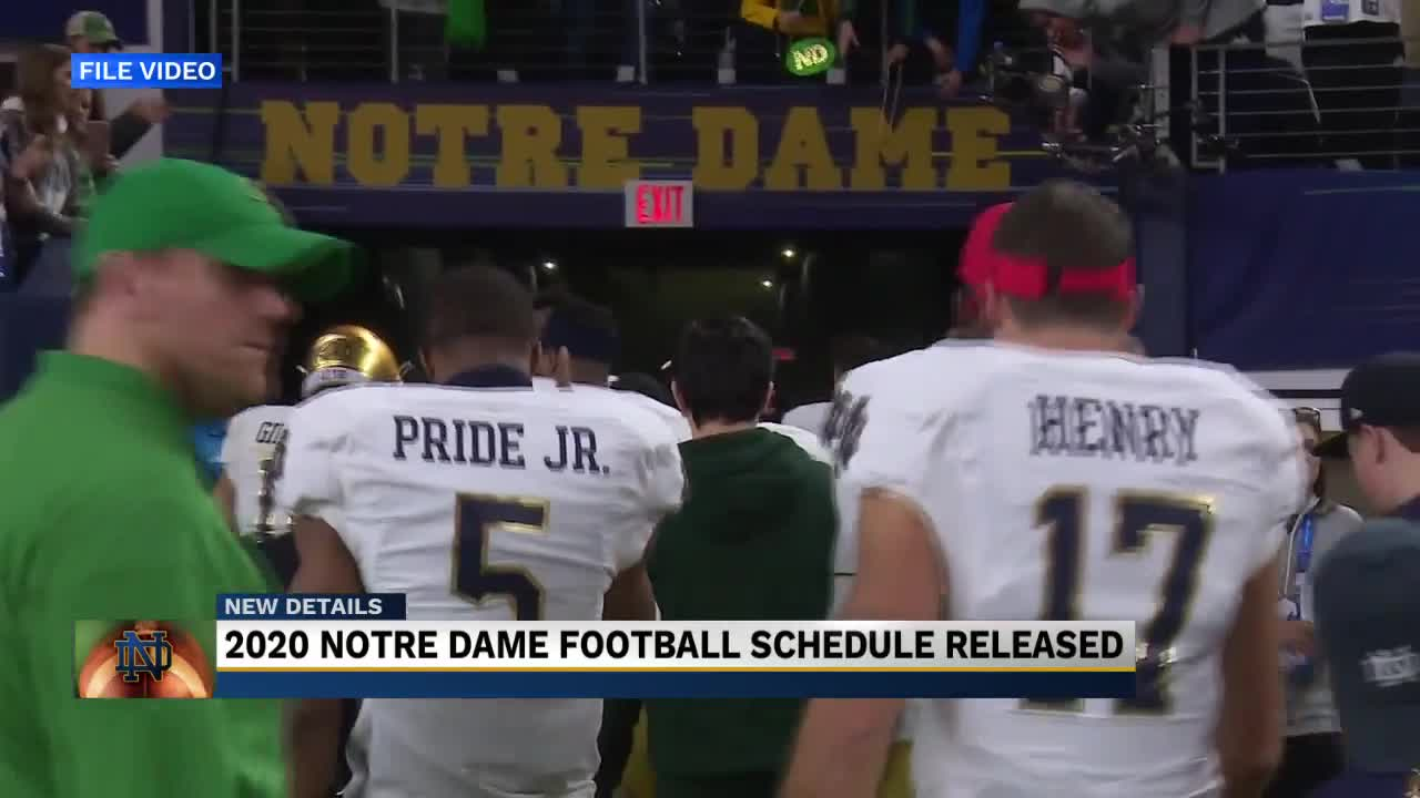 2020 Notre Dame Football Schedule Released