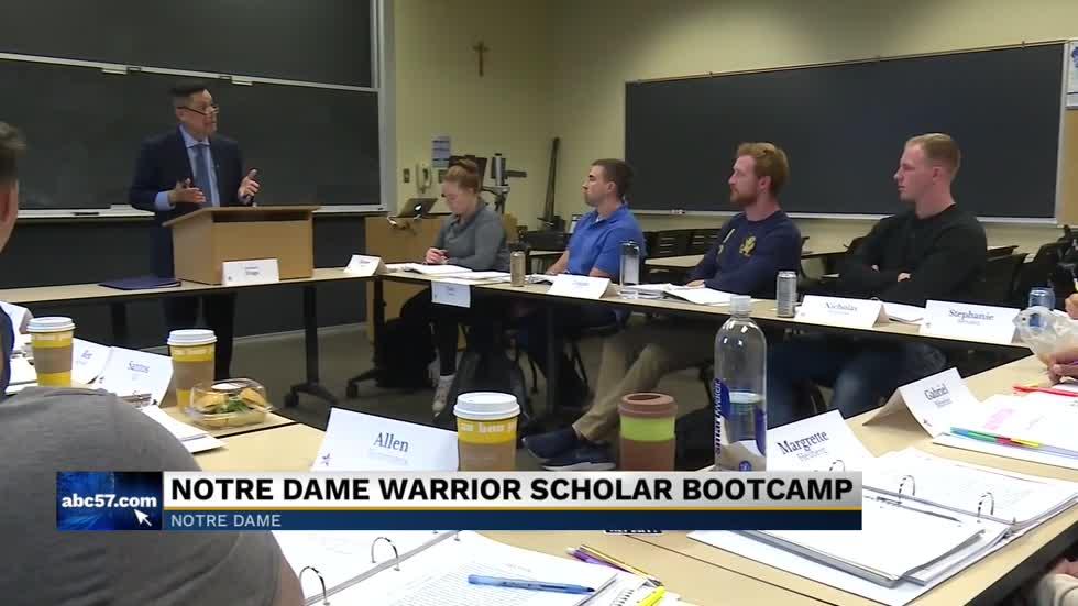 Organization preparing veterans for college on Notre Dame's campus