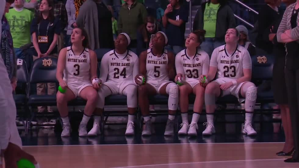 Notre Dame women's hoops invites fans to intro video shoot