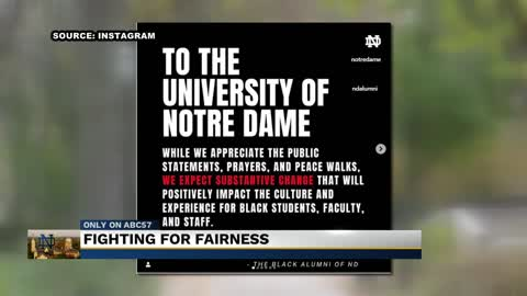 Notre Dame's Black Alumni start petition to end racism on campus