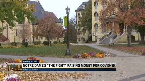 "Notre Dame's ""The Fight"" raising money for students impacted by COVID-19"
