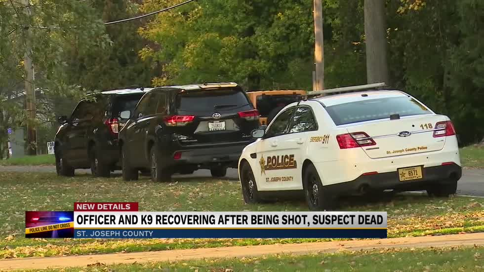 Officer and K9 recovering after being shot, suspect dead