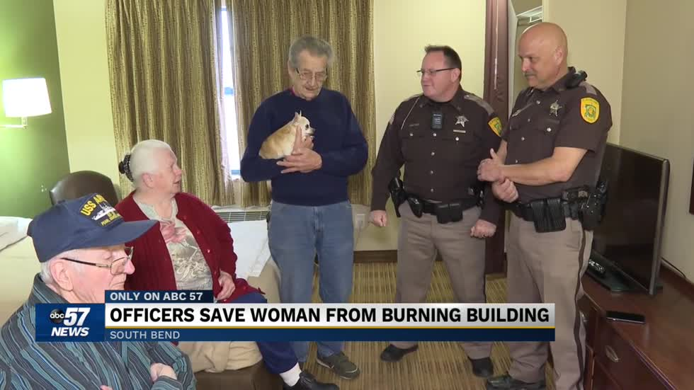 Family says thank you to St. Joseph County Corporals who saved woman from burning home