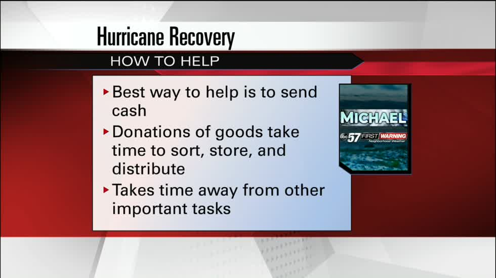 Officials ask for cash donations for hurricane victims