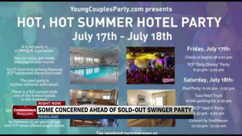 Officials concerned over planned sold-out swinger party at Roseland...