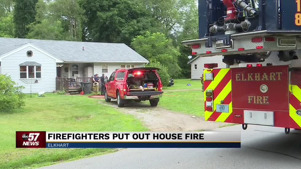 Firefighters in Elkhart extinguish house fire