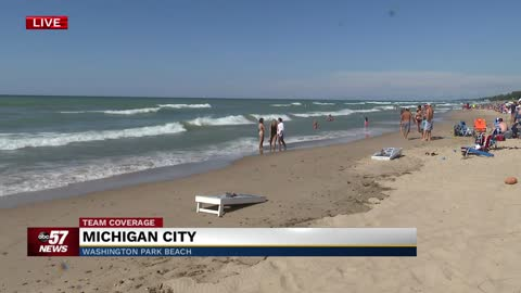 Strong currents, high waves along Lake Michigan