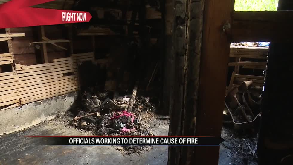 Officials working to determine cause of fire that left a couple badly burnt