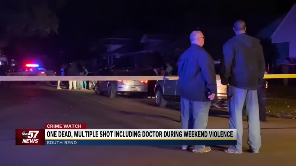 One dead, multiple shot including doctor during weekend violence