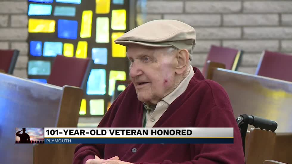 101-year-old U.S. Army Veteran honored in Plymouth