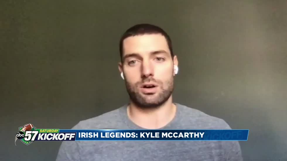 One on one with former Notre Dame player Kyle McCarthy
