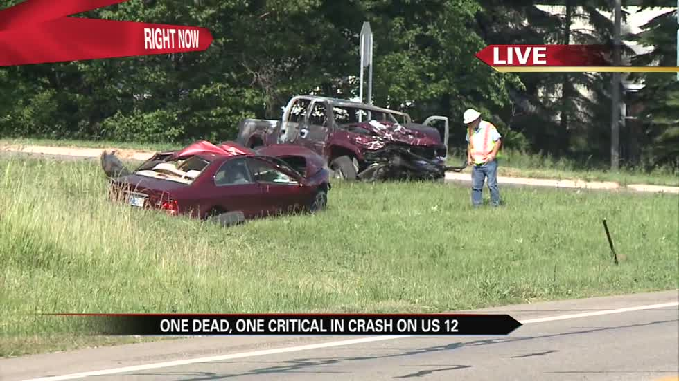 One person killed in crash on US12 at Tharp Lake Road