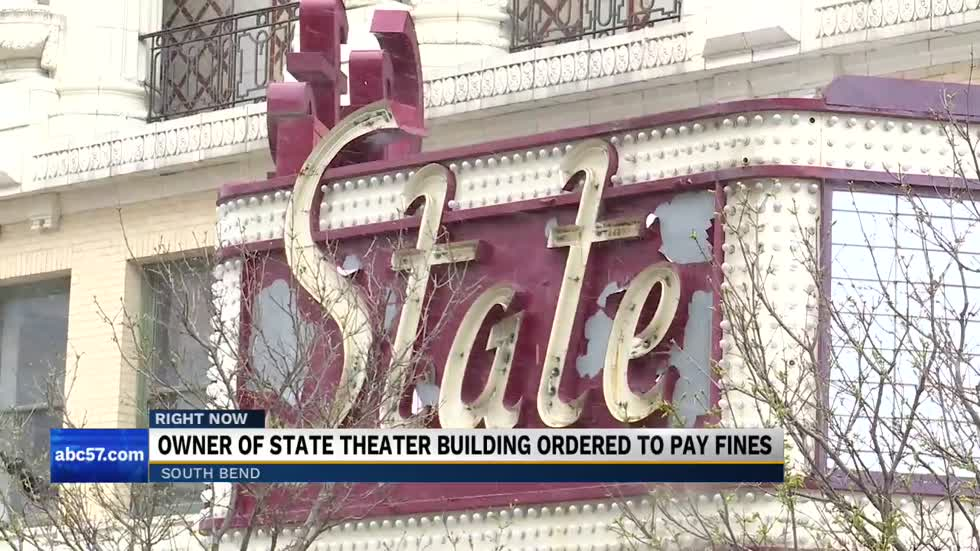 Owner of state theater building ordered to pay fines