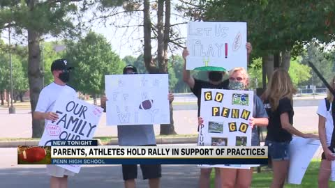 Parents, athletes hold rally in support of practices