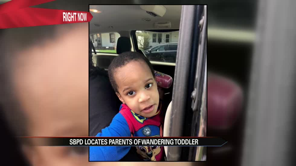 Parents located of missing 2-year-old child found wandering in South Bend