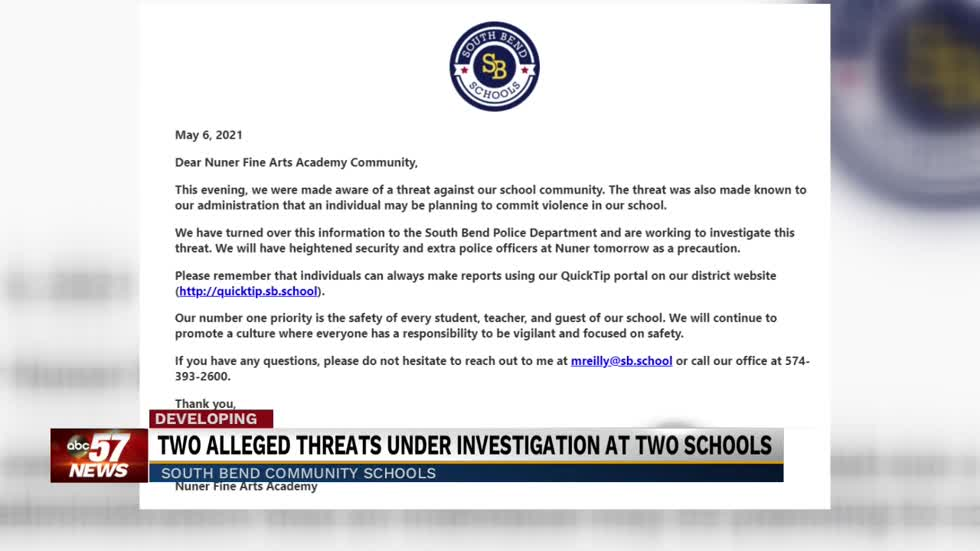 Parents react to alleged threats made at South Bend Schools